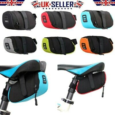 Bike Bicycle Saddle Bag Under Seat Waterproof Storage Tail Pouch Cycling Bags UK • 5.86£