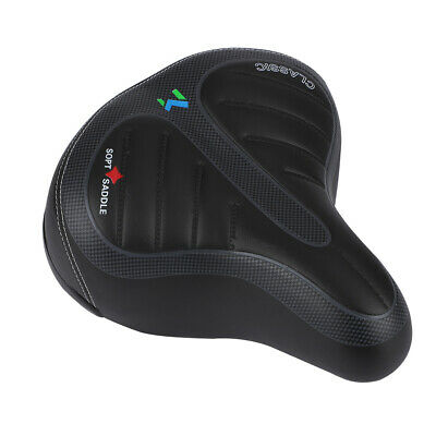 Extra Wide Comfy Saddle SPORTY SOFT PAD GEL Seat For Mountain Bike Road Bicycle  • 10.99£