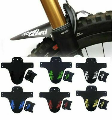 MTB Mudguard Set Mountain Bike Bicycle Fender Front Rear Tyre Mud Guard New • 4.39£