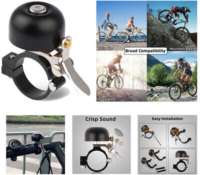 MEKO Bike Bell, Classic Retro Look, Loud And Clear Ding, Fun To Ring, Black • 4.18£