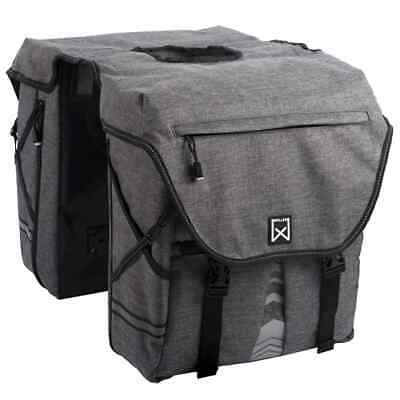 Willex Bicycle Panniers 1200 28 L Anthracite Bike Cycle Rear Store Bag 13313 • 47.93£