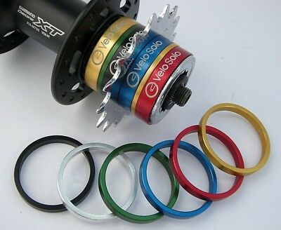 VeloSolo UK CNC SINGLESPEED Cassette Hub SPACER KIT Single Speed COLOURS Shimano • 17.95£
