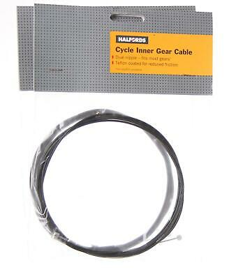 2 X HALFORDS Bike/cycle INNER GEAR CABLE 1.2mm DUAL ENDED TEFLON COATED • 2.49£