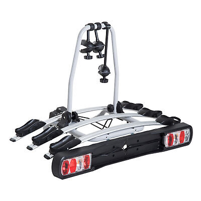 HOMCOM Bicycle Carrier Rear-mounted Bike Rack Rear Tow Bar Carrier Outdoor • 155.99£