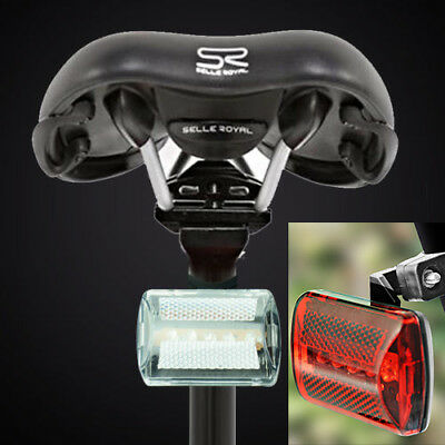 2 Front & Rear 5 LED Bicycle Bike Light Set Cycle Lights Visibility Safety Red • 3.99£