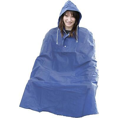 PVC Waterproof Cycle Cape One Size With Fully Taped Seams 100% Functional • 10.99£