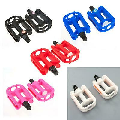 KIDS BIKE PEDALS - In Black White Pink Red Blue (9/16  Thread) Childrens Bicycle • 5.99£