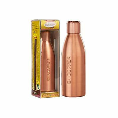 Dr. Copper Water Bottle With New Stylish And Advanced Leak Proof Cap - 500 Ml • 14.31£