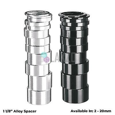 Alloy 1 1/8  Bike Headset Spacer Black / Silver 2mm 5mm 10mm 15mm 20mm • 1.96£
