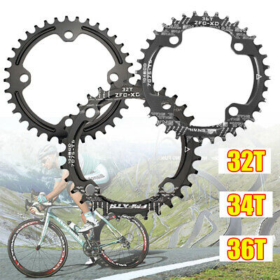Bike Narrow Wide Round Chainring Ring BCD 104mm 32 34 36T Single Tooth Chain • 9.95£