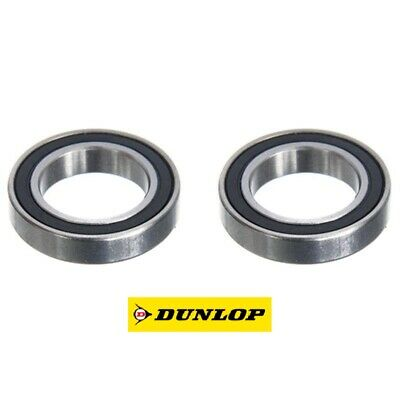 TWO DUNLOP 61801-2RS (6801-2RS) THIN SECTION TOP QUALITY BEARINGS 12 X 21 X 5mm • 3.85£