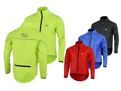 Mens Waterproof Cycling Jacket Breathable Lightweight High Visibility Jacket • 13.99£