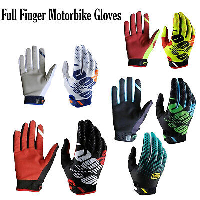 Full Finger Motorbike Cycling Gloves Motocross Mountain Bike Riding MTB Glove UK • 10.99£