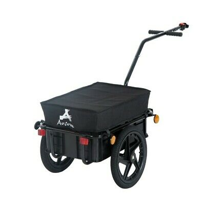Bicycle Cargo Trailer Bike Folding Utility Luggage Carrier Inflatable Wheels New • 109.27£