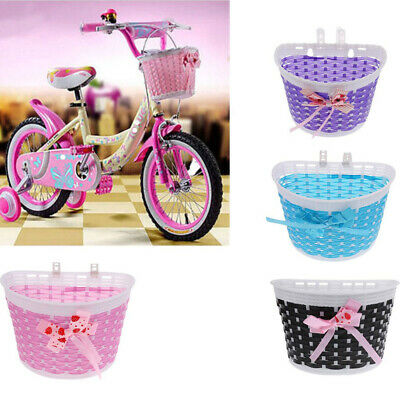 Bike Basket Front Bicycle Cycle Plastic Storage Cute Basket For Kids Children  • 3.19£