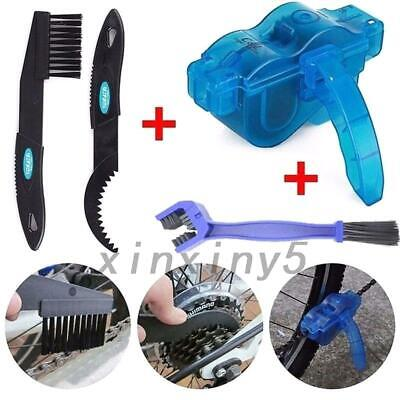 Cycling Bike Bicycle Chain Wheel Wash Cleaner Tool Cleaning Brushes Scrubber UK • 8.99£