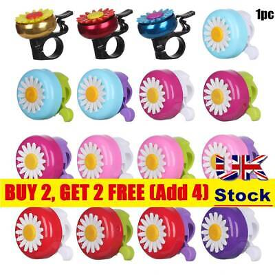 1PC Daisy Flower Pattern Bicycle Bell Safety Loud Clear Bike Cute For Kid Girls • 4.30£