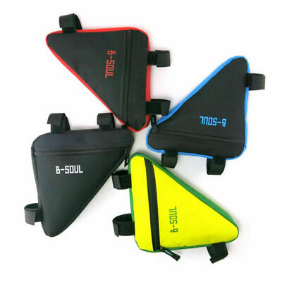 B-SOUL MTB Bike Bicycle Frame Tube Triangle Bag Cycling Waterproof Storage Pouch • 4.28£