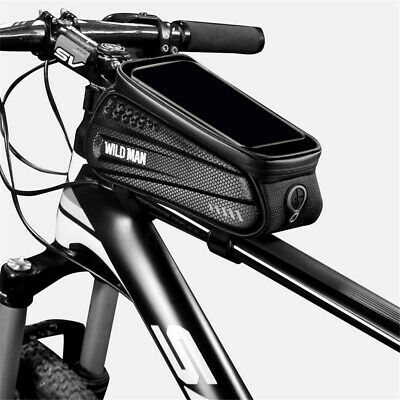 Waterproof MTB Mountain Bike Frame Front Bag Pannier Bicycle Mobile Phone Holder • 12.99£