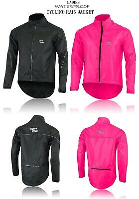Ladies Waterproof Cycling Jacket Breathable Lightweight High Visibility Jacket • 19.99£