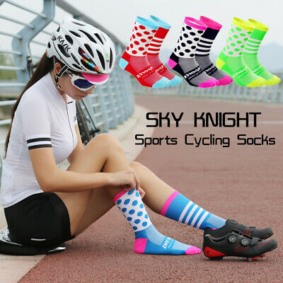 New 1Pair Unisex Cycling Sports Socks Long Tube Compression Breathable Socks • 1.99£