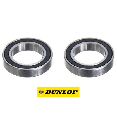 TWO DUNLOP 61802-2RSC3 (6802-2RS) THIN SECTION HIGH SPEED BEARINGS 15 X 24 X 5mm • 4.25£