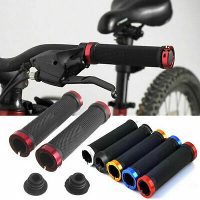 Mtb Cycle Bicycle Mountain Bike Handle Bar Grips 2pcs Double Lock On Locking • 4.59£