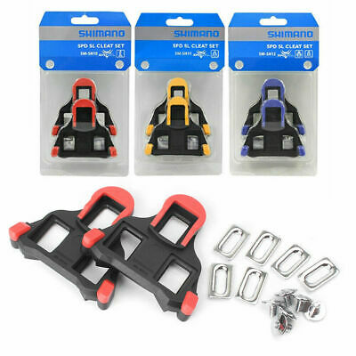 Shimano SM-SH10/11/12 Fixed Cleats Set 0/2/6° Float SPD-SL For Bike Pedals UK • 12.98£