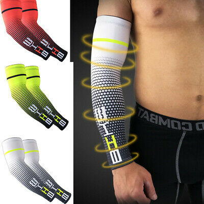 1 Pair Breathable Stretchy UV Proof Cycling Training Workout Arm Sleeve Cover • 7.99£