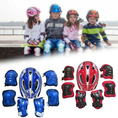 7Pcs/Set Boys Girls Kids Safety Helmet & Knee & Elbow Pad For Cycling Skate UK • 6.99£