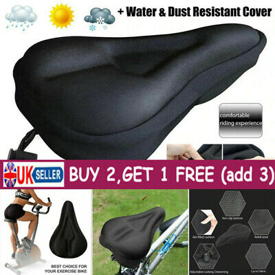 New Mountain Bike Comfort Gel Pad Comfy Cushion Saddle Seat Cover For Exercise~ • 4.32£