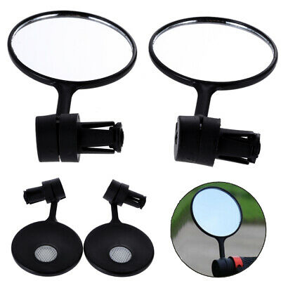 1 Pair Cycling Bike Bicycle Handlebar Flexible Safety Rear View Rearview Mirror • 3.69£