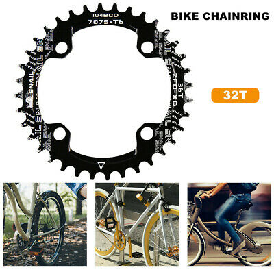 UK 104BCD 32T Single Tooth Narrow MTB Mountain Bike Bicycle Chainring Round • 5.99£