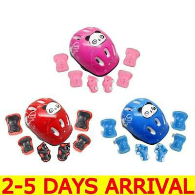 7Pcs/Set Boys & Girls Kids Skate Cycling Bike Safety Helmet Knee Elbow Pad UK A8 • 8.99£