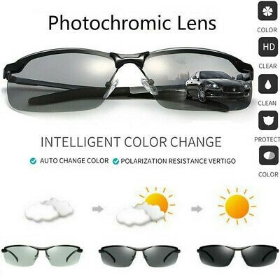 Photochromic Lens Polarized Sunglasses Outdoor Cylcing  Fishing Glasses Eyewear • 4.89£