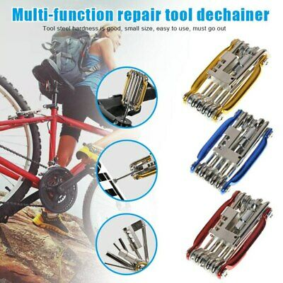 Multi 11 In 1 Bicycle Bike Allen Hex Keys Screwdriver Chain Link Tool Repair Kit • 5.45£