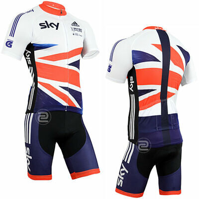 UK Bicycle Team Clothing Gel Padded Shorts Cycling Sets Outdoor Sports Bike Suit • 16.33£