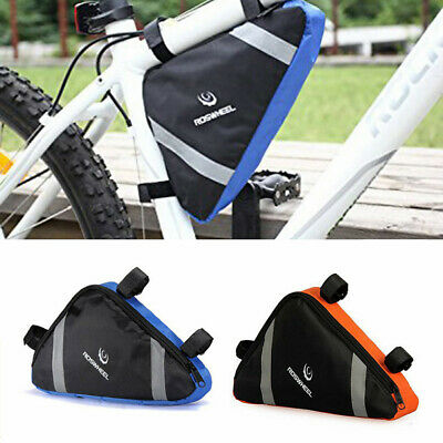 Bicycle Cycling Triangle Storage Bag Bike Front Tube Frame Bags Waterproof Pouch • 5.99£