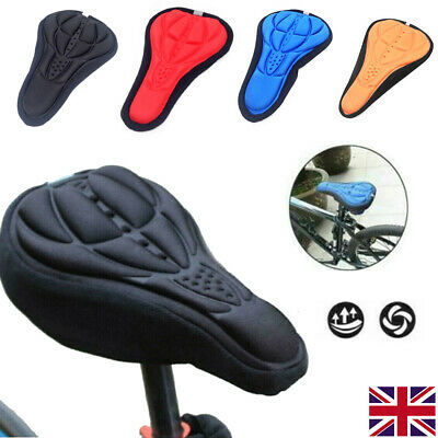3D Silicone Gel Bike Bicycle Cycling Saddle Seat Cover Comfort Soft Cushion Pad • 2.98£