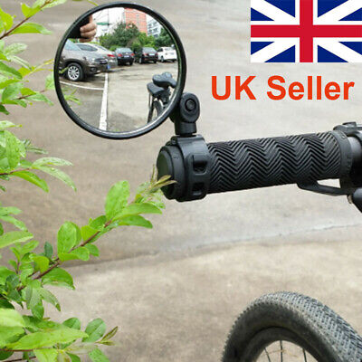 360° Rotate Bike Bicycle Cycling Side Rear View Handlebar Rearview Mirror • 4£