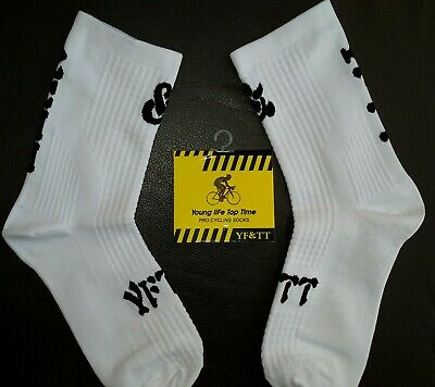 New Style Cycling Socks Blue With Black Stripes Size 6-12 Mens Or Womens • 4.49£