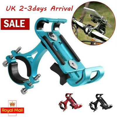 360° Bike Phone Holder Stand Rotating Alloy Cycling MTB Bicycle GPS Rack Holder • 5.99£
