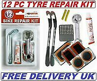 Bicycle Tyre Tube Bike Puncture Repair Kit, Patches Glue Spanner Tool Lever Uk • 3.17£