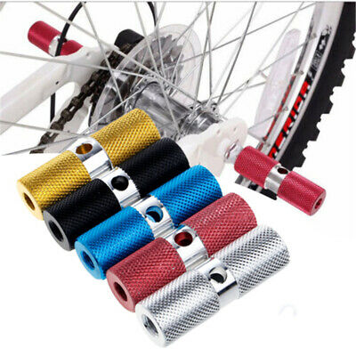 2pcs BMX Stunt Scooter Pegs Alloy Cylindrical Bike Bicycle Axle Foot Colourful • 5.29£
