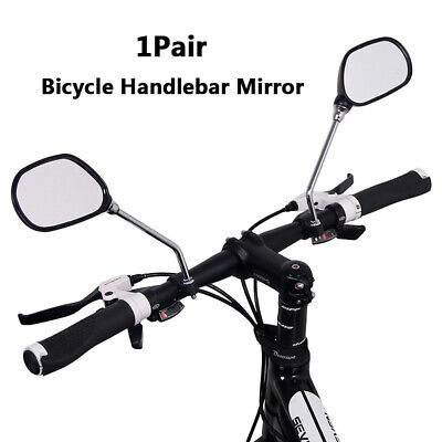New Cycling Bicycle Bike Adjustable Rear View Mirror 360 Degrees Rotate BLACK • 9.30£