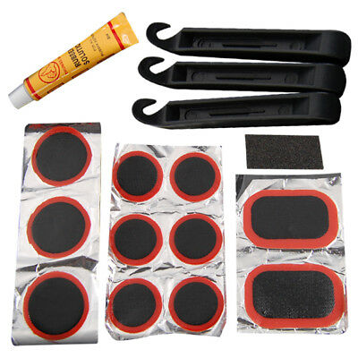Bicycle Tyre Puncture Repair Kit Bike Cycle Patches Patch Mountain Rubber Tool • 2.99£