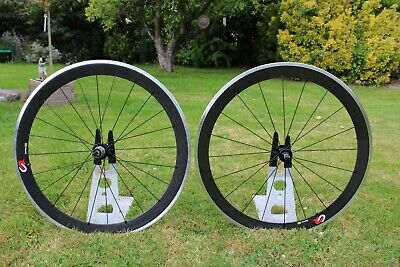 Carbon Wheels 50mm With Alloy Braking Surface 10/11 Speed Shimano/sram • 11.50£
