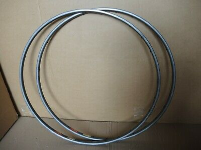 MAVIC GP4 TUBULAR RIM SET 28 HOLE - GREY ANODIZED - CIRCA 1980s - RETRO L`EROICA • 20£