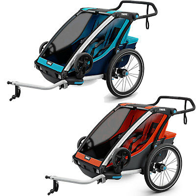 Thule Chariot Cross 2 Bicycle Trailer Bike Coupler Two-Seater Children New • 762.98£