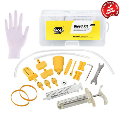 Bicycle Hydraulic Disc Brake Mineral Oil Bleed Kit Tools For SHIMANO MAGURA SRAM • 12.71£